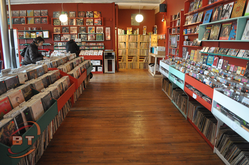 This is the store front.  Lots of classic and hard-to-find vinyl, posters, etc.
