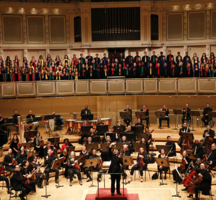 The Chicago Sinfonietta performs it's annual tribute to MLK at Symphony Center on Monday, January 19th, 2015. Photo by Jasmin Shah